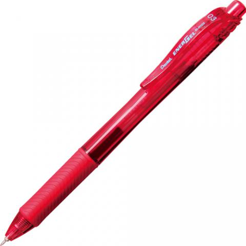 ゲルインキボールペン エナージェル・エックス 0.3mm 赤