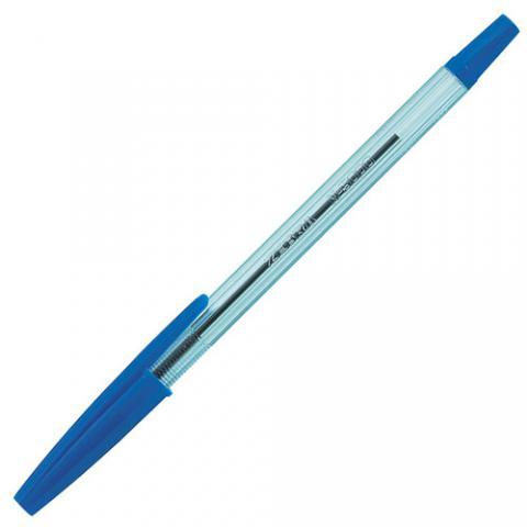 油性ボールペン ニュークリスタルケアS 0.7mm 青