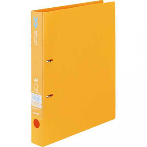 Dリングファイル<K2> A4タテ 背幅36mm オレンジ