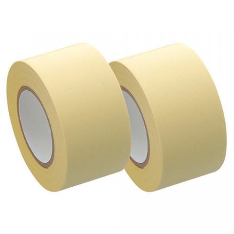 メモック ロールテープ 再生紙タイプ つめかえ用 25mm幅 黄 2巻入