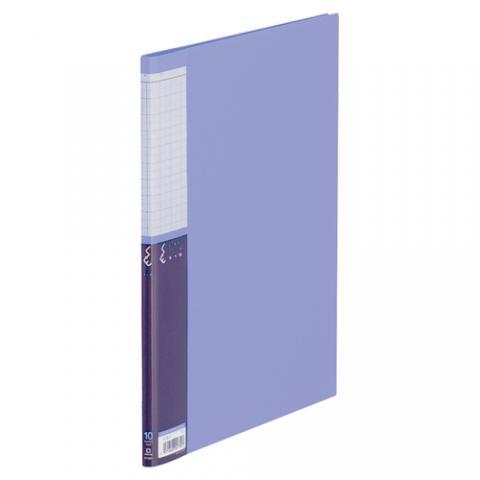 クリアーファイルSE A4タテ 10ポケット 青