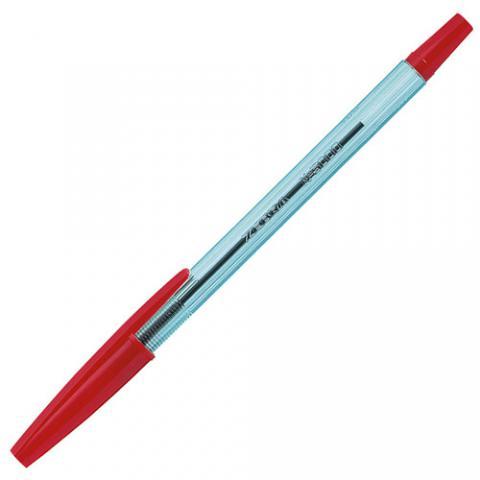 油性ボールペン ニュークリスタルケアS 0.7mm 赤