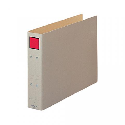 保存ファイル B4ヨコ 50mmとじ スクエア赤