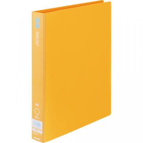 リングファイル<K2> A4タテ リング内径25mm オレンジ