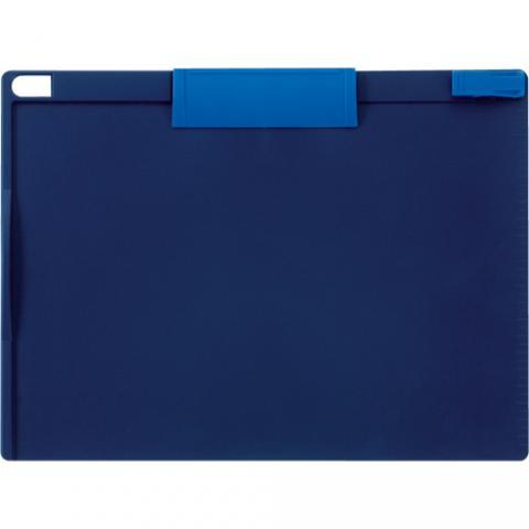 クリップボード マグネットタイプ A4ヨコ型 青