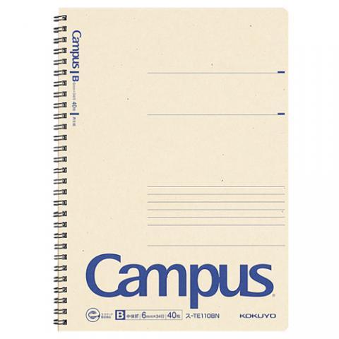 再生紙キャンパスノート ツイリングノート セミB5 B罫 40枚