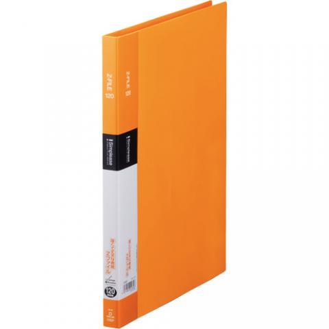 シンプリーズ Zファイル A4タテ 120枚収容 オレンジ
