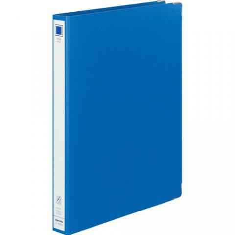 リングファイル 色厚板紙 A4タテ 30穴 リング内径23mm 青