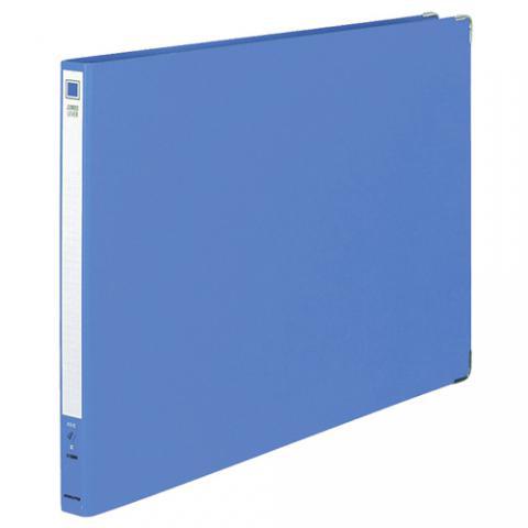ジャンボレバーファイル(Z式) 色厚板紙 A3ヨコ 150枚収容 青