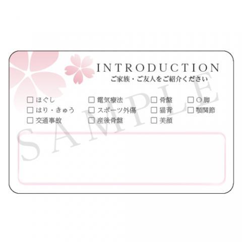 紹介カード 100枚入