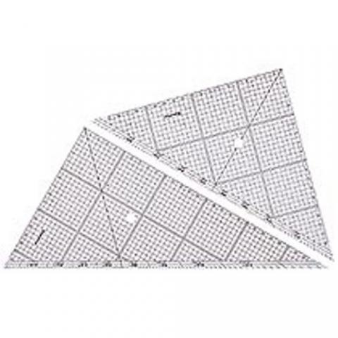 レイアウト用方眼三角定規 30cm