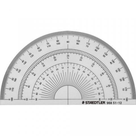 半円分度器 12cm