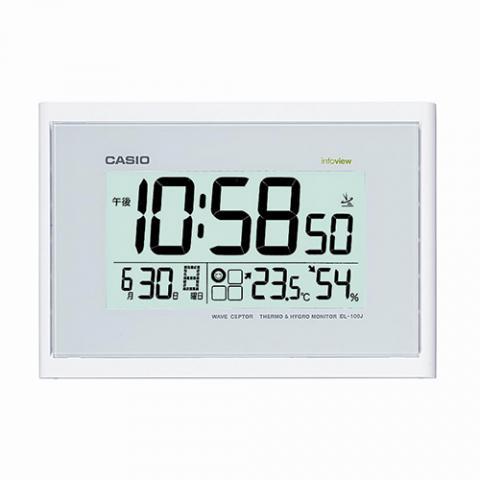 電波時計 掛置兼用 温湿度計付 IDL−100J−7JF