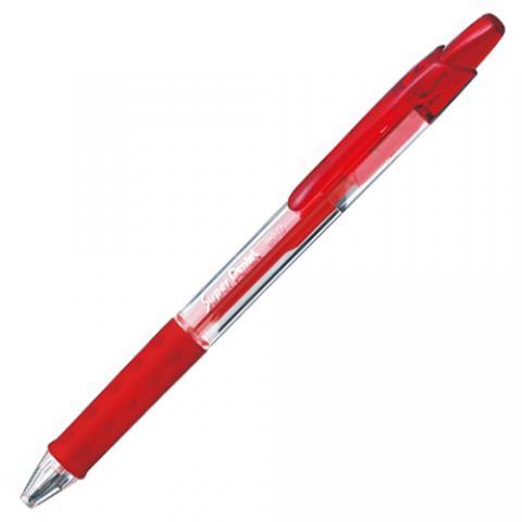 ノック式油性ボールペン スーパーぺんてる 0.7mm