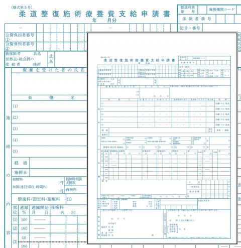 新様式【柔整】一般 申請書(レセプト)用紙