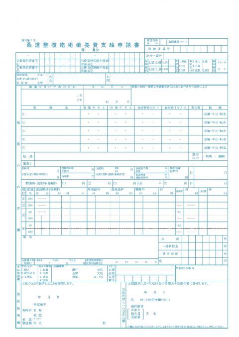 新様式【柔整】一般申請書(レセプト)用紙
