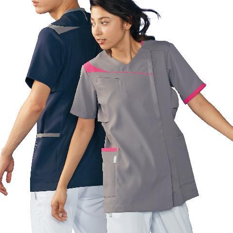 アシックス レディススクラブ(半袖) カラー12色 (モンブラン)