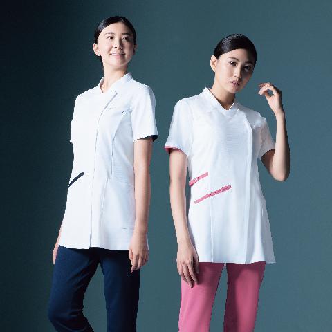 カゼン レディスチュニックジャケット半袖 カラー3色 (KAZEN)