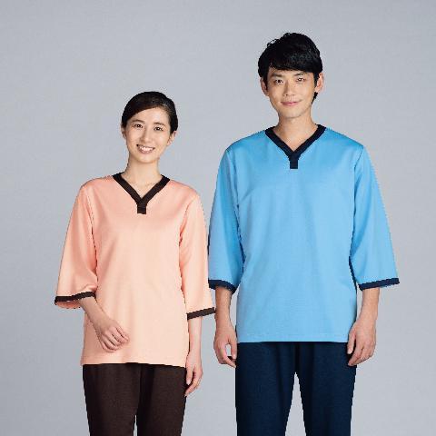 カゼン ニット患者着 上衣 カラー3色 (KAZEN)