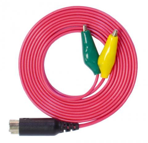 みの虫クリップコードDIN(1本組)(オームパルサーLFP-2000e標準付属品)コードカラー4色