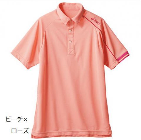 クレーターメッシュ半袖ポロシャツ 男女兼用(アシックス)