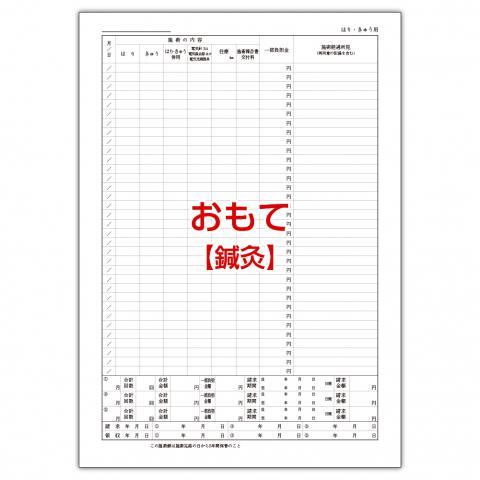 【柔整】施術録(カルテ)裏面様式のみ
