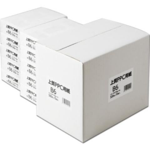 上質PPC用紙(領収証用紙) B6T目 500枚×10冊/箱