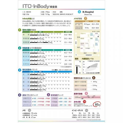 ITO-InBody370結果用紙(500枚入)
