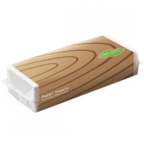 TANOSEE ペーパータオルアースカラー(エコノミー) 200枚