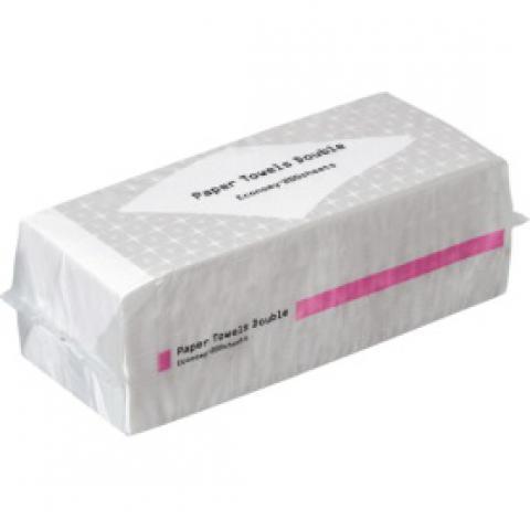 TANOSEE ペーパータオル 抗菌・ダブル(エコノミー) 200組