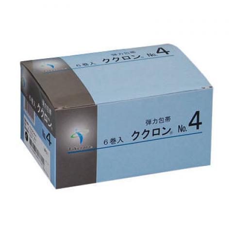 ククロンNo4 強撚糸弾力包帯7.5cm×4.5m×6巻入【2箱単位】